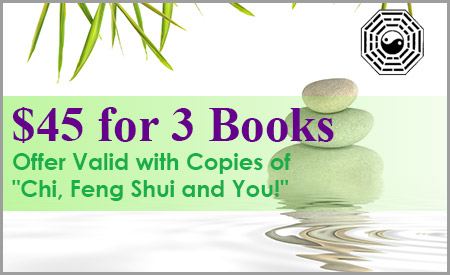 $45 for 3 Books - Offer Valid with Copies of Chi, Feng Shui and You!
